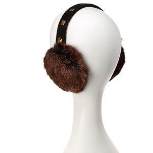 Qi Cashmere 100% Rabbit Fur EarMuffs